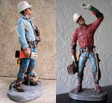 STUNNING  Lineman Statue  - YOUR CHOICE OF TWO by GARMAN